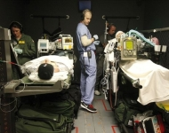 Doctors Learn To Transport Wounded Back From War